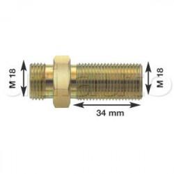 Olivette raccord pour flexibles air M18 X 1.5 Longueur filetage 34 mm