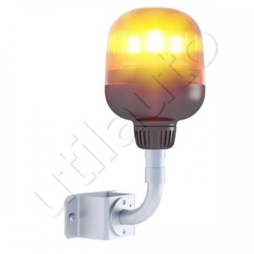 Gyro flash 6 led sur hampe courte 12/24Vols