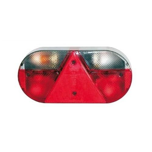 Feu arrière compact à ampoules 12 Volts droit
