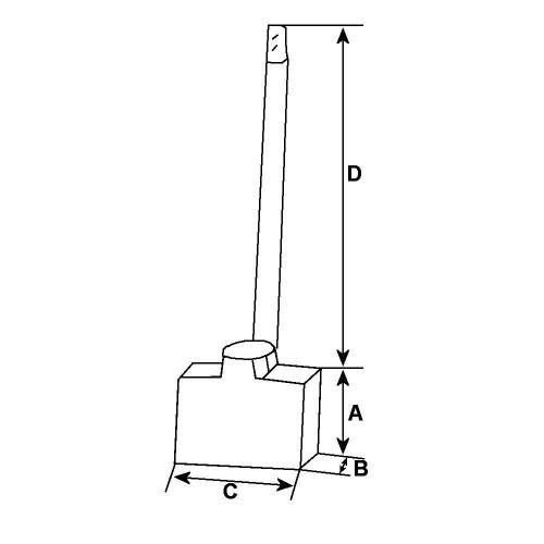 Jeu de balais EX85-862/1 12 volts, PRESTOLITE MDL-1063S, MDL2012CS, Krauf SHP8621