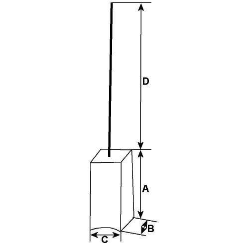 Balais 10-100 Volts, 140164, Bosch, Webasto