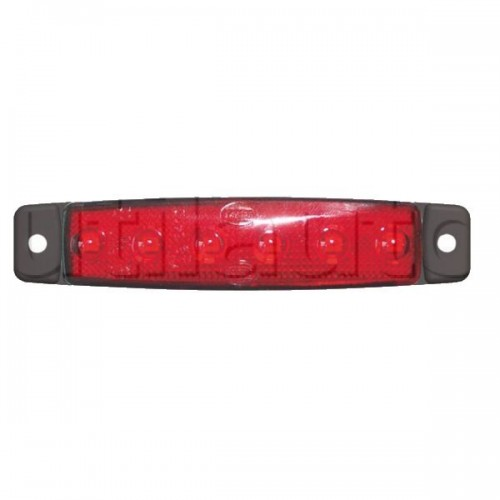 Feu d'encombrement 6 Leds extra plat 24 volts rouge