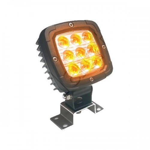Phare de travail carré 9 leds type CREE - 10/30 Volts - ORANGE