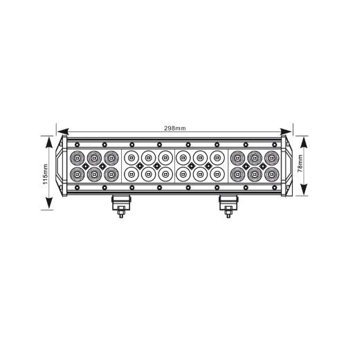 Rampe Led 305MM 72W Militaire