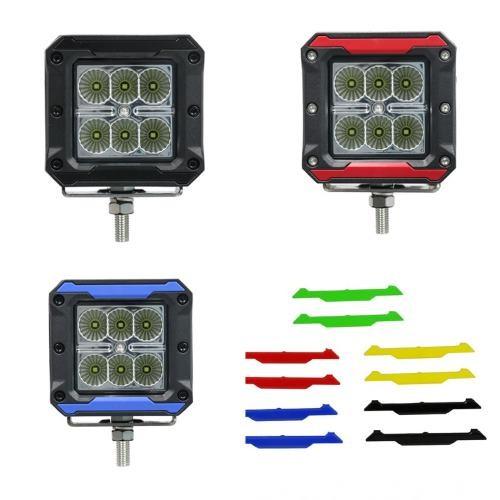 Phare de travail Professionnel 6 LEDS avec 4 Couleurs 1260 Lumens 12/24 Volts