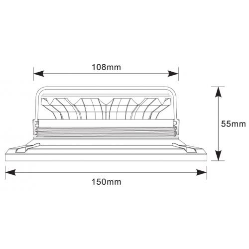 Gyrophare Rotatif Extra Plat 12 LEDS 12/24 VOLTS
