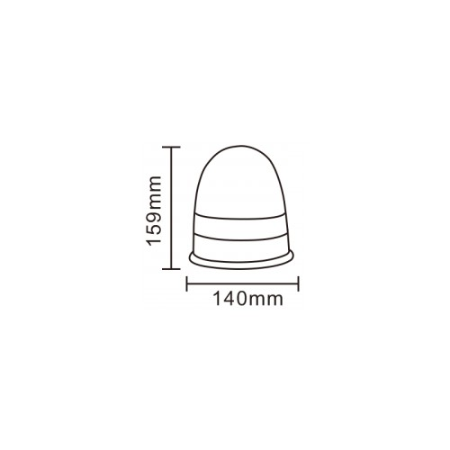 Gyrophare Rotatif 16 LEDS a Fixer 12/24 VOLTS R10 & R65