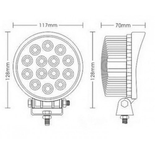 Phare de travail Rond 13 LED 39W 2500 Lumens