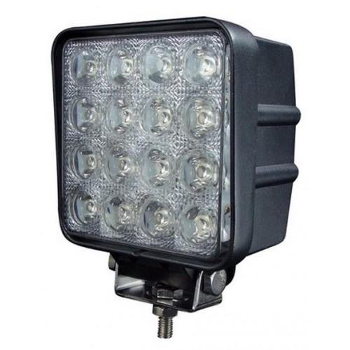Phare De Travail 16 LED 48W 4000 Lumens Aluminium