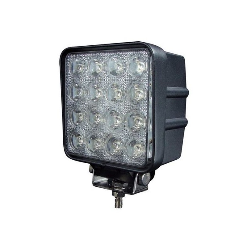 Phare De Travail 16 LED 48W 4000 Lumens Aluminium