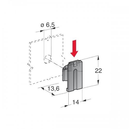 Support à clipser pour porte-fusibles MINI, MEGA et connecteurs de puissance