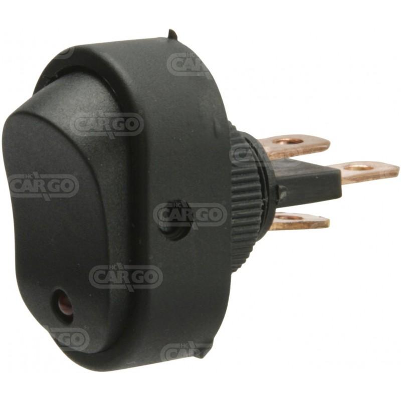 Interrupteur à bascule, rouge 12 volts