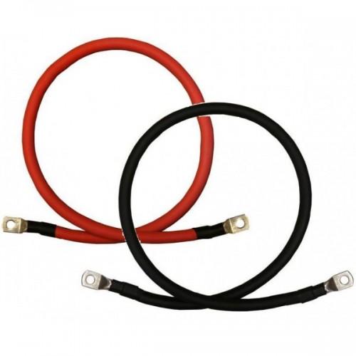 Câble batterie 10mm2 sur Mesure avec cosses (rouge ou noir)