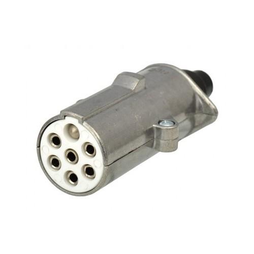 Cordons 7 conducteurs équipés de fiches métal ISO 24 Volts + ressort 24S MALE