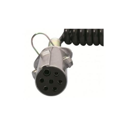 Cordons 24N Femelle 7 conducteurs fiches métal ISO 1185 24 Volts AVEC ressort