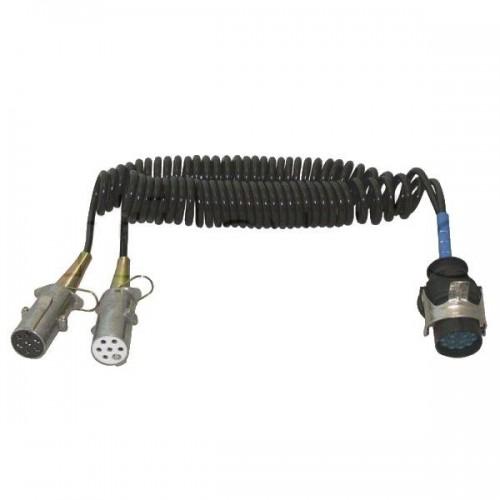Cordons adaptateurs pour tracteurs et semi-remorques equipés de socles 15 et 7 pôles - 24 Volts - MERCEDES