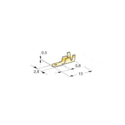 Cosses mâles laiton brut 2.8mm
