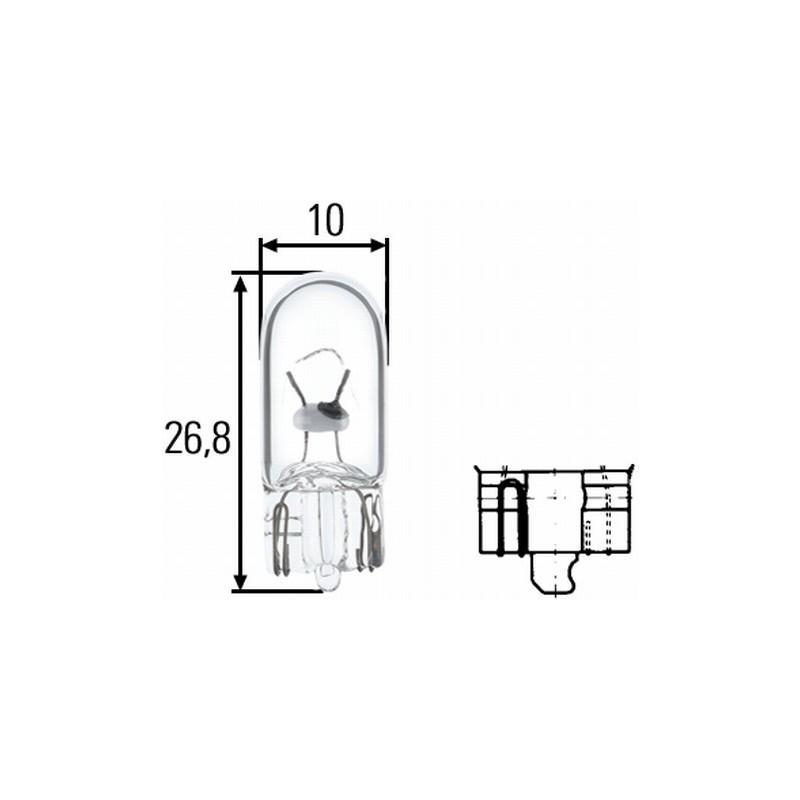 Ampoule W5W 24 volts Hella 8GP 003 594-251