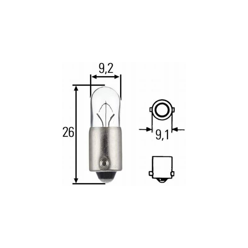 Ampoule T4W 24 volts Hella 8GP 002 067-241