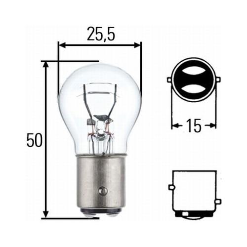 Ampoule P21 5W 24 volts Hella 8GD 002 078-241