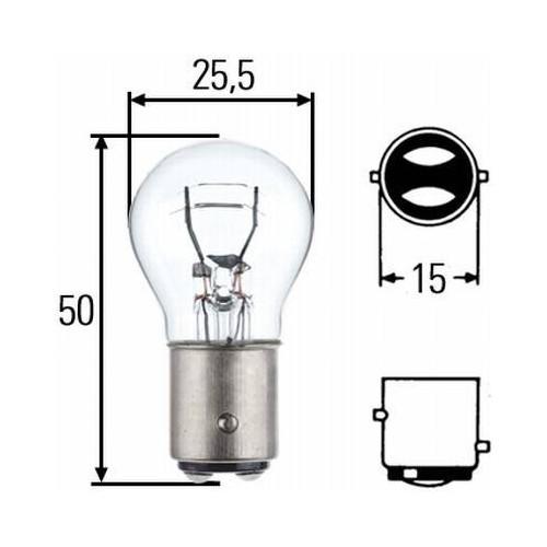 Ampoule H7 55W PX26 12 Volts Hella 8GH 007 157-121