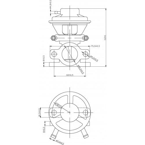 Vanne EGR FIAT Ducato: 504150396, 6040005450, 71793031