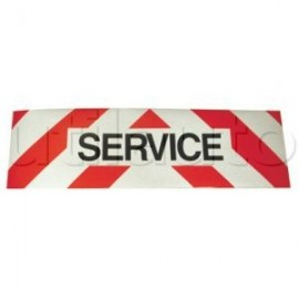 Panneaux service : adhésif, alu